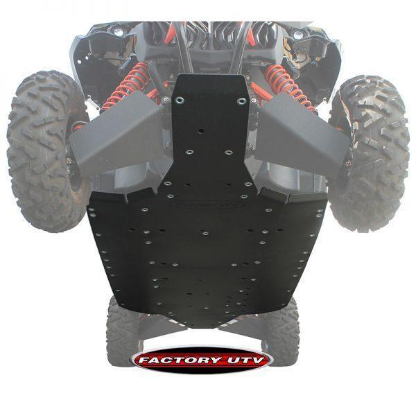 Maverick Max Xds Turbo Half Inch inch UHMW Skid Plate. Factory UTV's Maverick Max X ds UHMW Skid Plates are the gold standard for UTV protection systems. OEM skid plates simply do not satisfactorily protect the underside of your UTV under normal off road operation.,Can-Am Commander Max Three Eighths UHMW Skid Plate,Can-Am Commander Max Half Inch UHMW Skid Plate,Can-Am Maverick Max Three Eights Inch UHMW Skid Plate