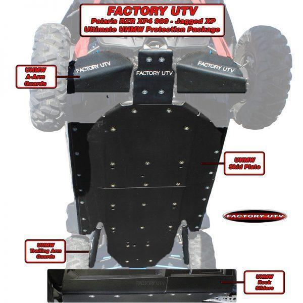 RZR XP4-900 Ultimate Three Eights UHMW Package.RZR XP4 900-Jagged X- Ultimate Half Inch UHMW Package