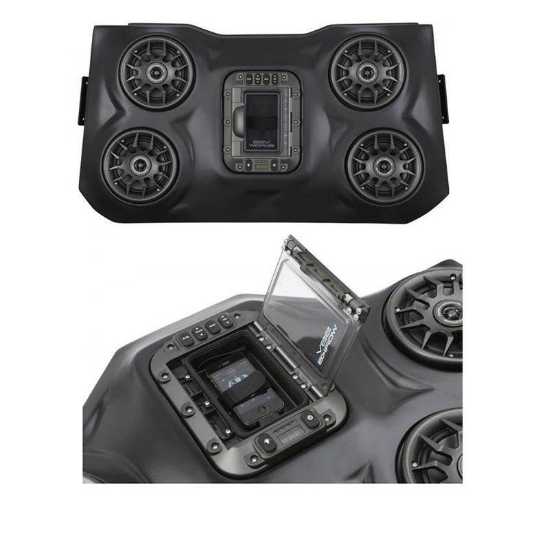 SSV WORKS RZR XP1000 BLUETOOTH IPOD 4 SPEAKER OVERHEAD SYSTEM