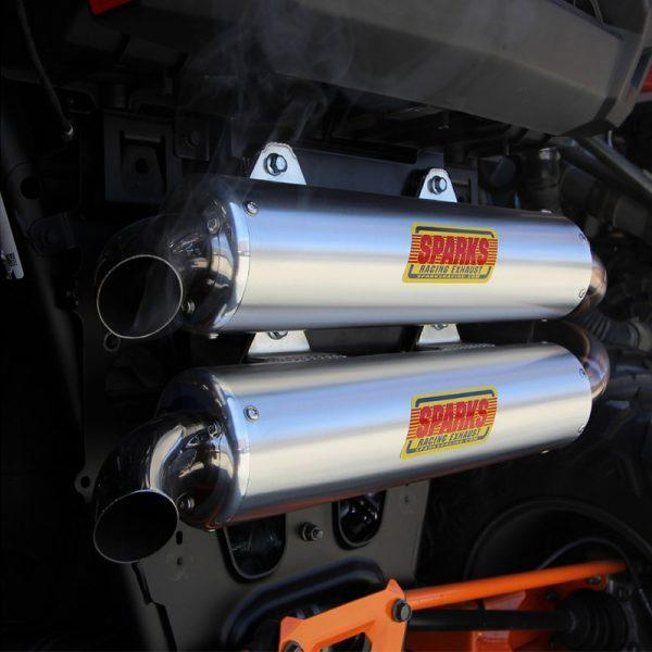Sparks Racing Polaris RZR XP Turbo X-6 Stainless Steel Exhaust System