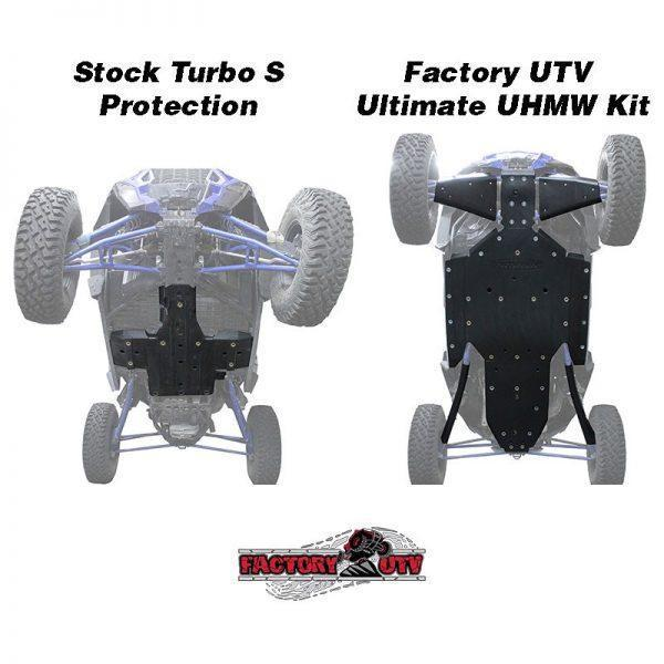Factory UTV Polaris RZR XP Turbo-S Ultimate Half Inch UHMW Kit,Factory UTV Polaris XP Turbo S Three Eighth UHMW Skid Plate