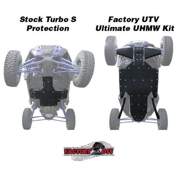 Factory UTV Polaris XP Turbo S Three Eighth UHMW Skid Plate.Factory UTV Polaris RZR XP Turbo S Half Inch UHMW Skid Plate