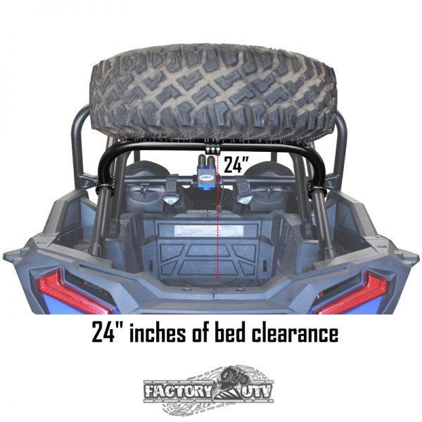 Factory UTV Polaris RZR XP Turbo S Steel Dual Clamp Spare Tire Mount