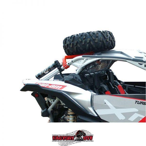 Factory UTV Can-Am X3 Above Roof Dual Clamp Spare Tire Mount