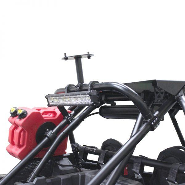 Factory UTV Polaris RZR XP Turbo S Above The Roof Dual Clamp Spare Mount