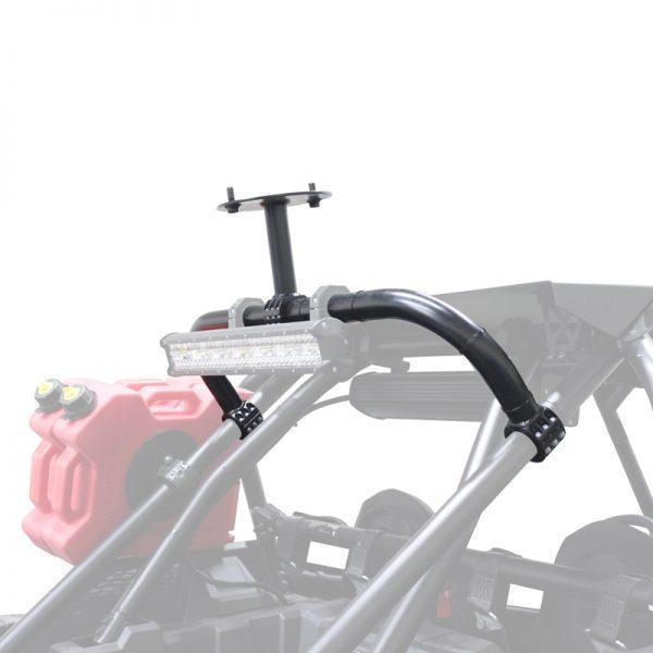 Factory UTV Polaris RZR XP Turbo S Above The Roof Dual Clamp Spare Mount shaded