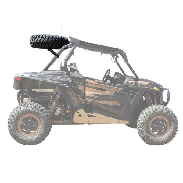 Polaris RZR XP Above The Roof Dual Clamp Spare Tire Mount