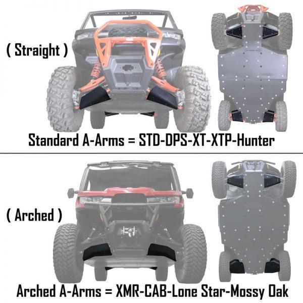 defender a-arms differences