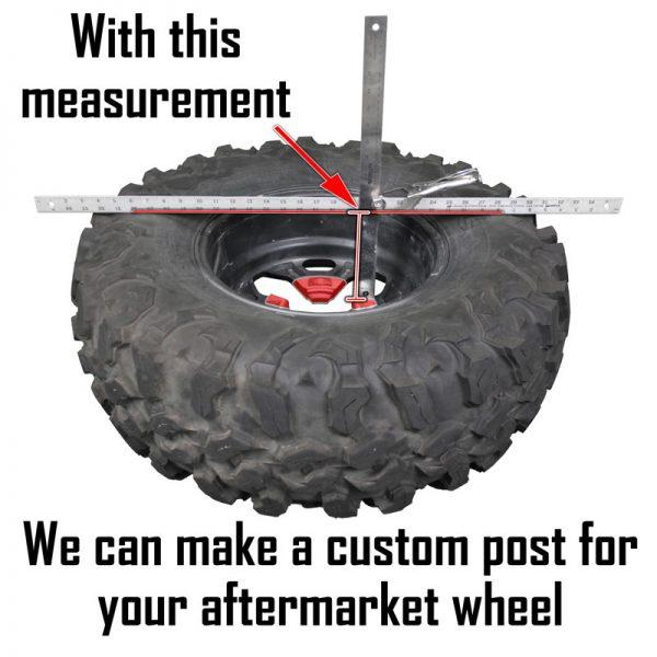 aftermarket spare tire post needed measurement