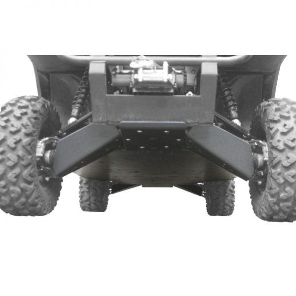 Kawasaki Mule Pro UHMW Skid Plate ultimate package front angle